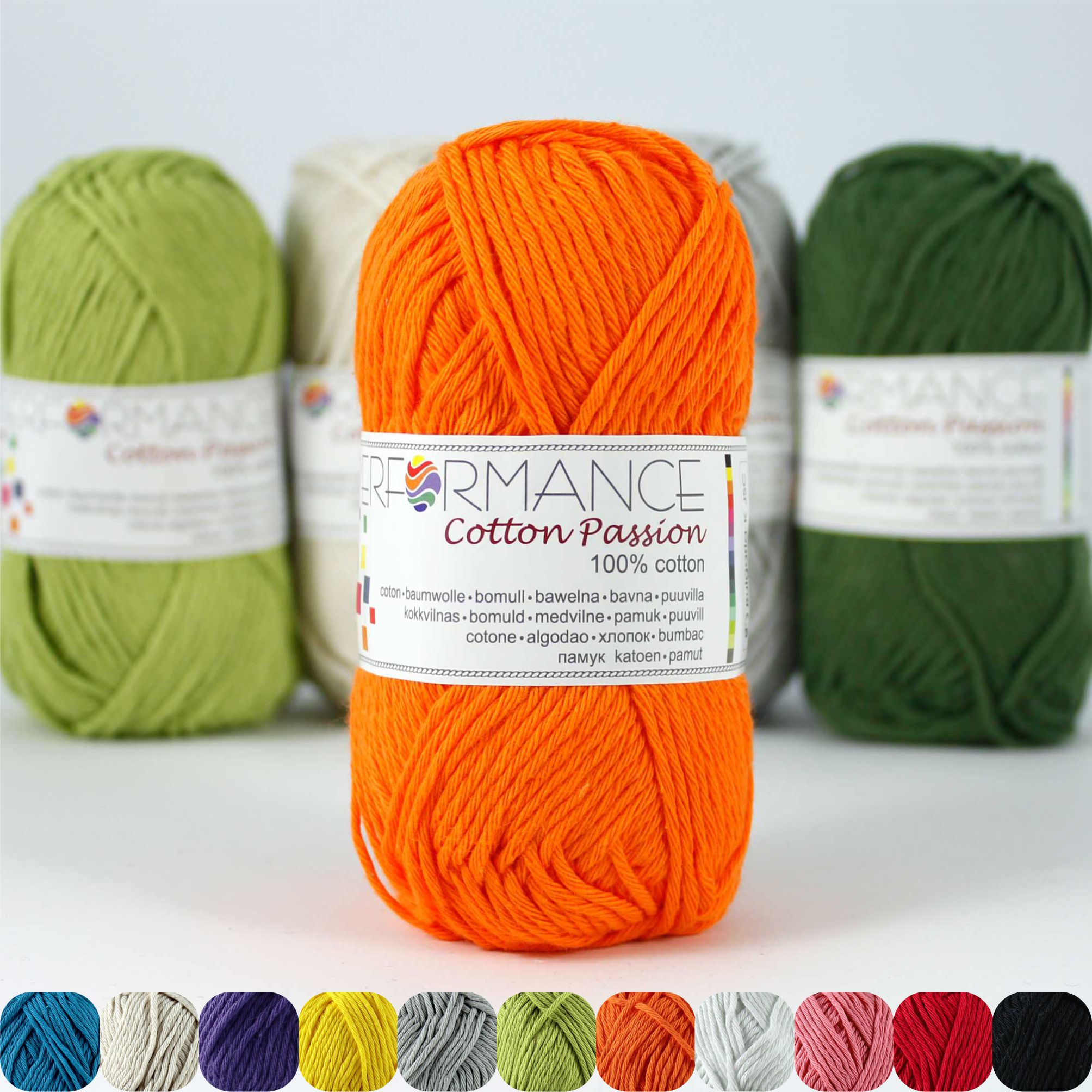 Garn Cotton Passion - 100% Baumwolle -  NM 17/4 - 85 m pro 50 g - Orange 0243